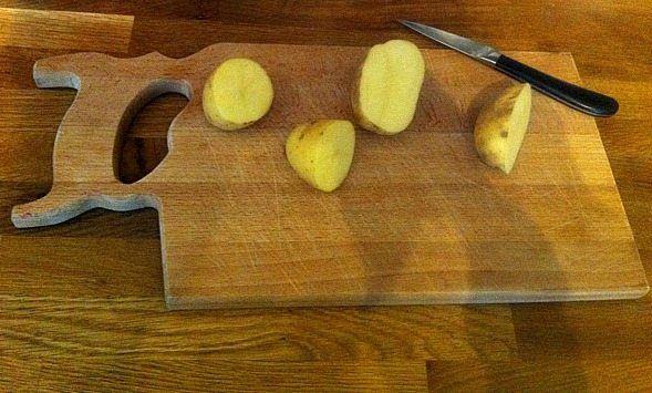 How to make potato Stamps for potato stamp art and craft
