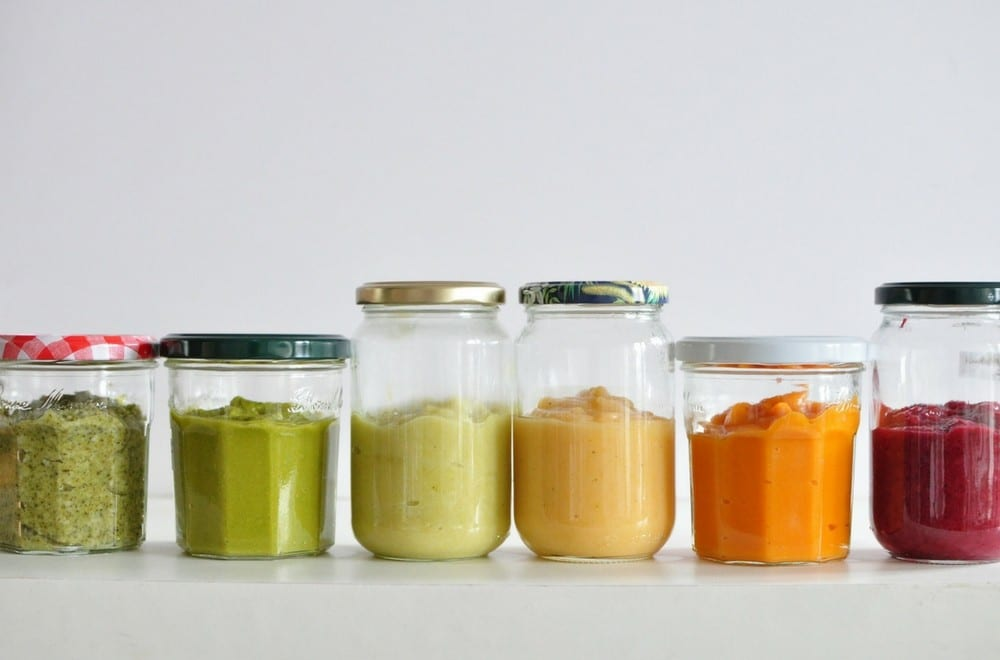 Baby weaning tips from a mum who has been through it... We've put together a list of 50+ puree and mash ideas for first foods for babies who are being weaned from nursing on milk onto solids. #Baby #Weaning #WeaningBaby #WeaningTime #WeaningIdeas #BabyLedWeaning #BabyLedWeaningIdeas #Puree