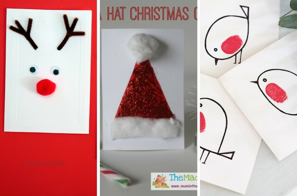 12 easy homemade christmas card ideas for kids mums make. Black Bedroom Furniture Sets. Home Design Ideas