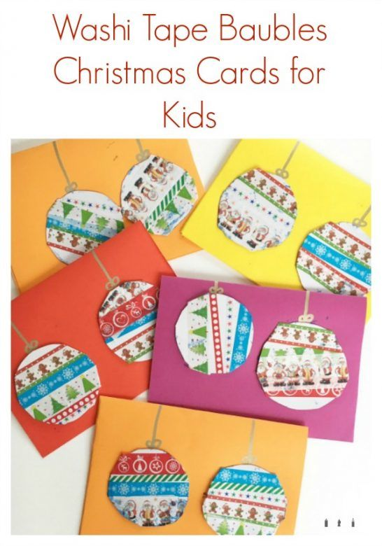 Washi Tape Christmas Card Baubles