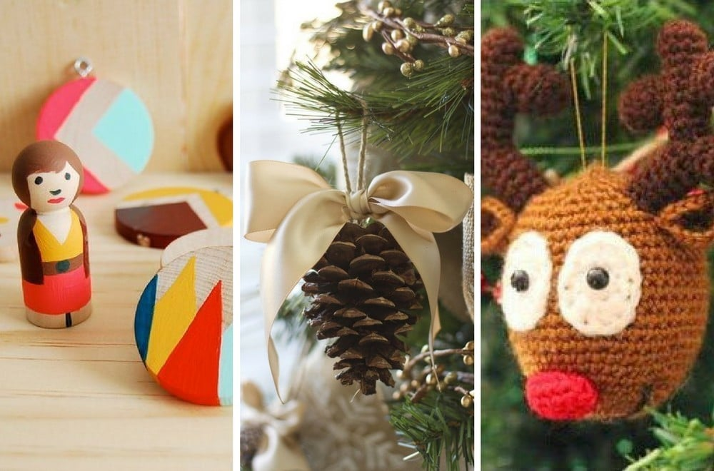 35 easy homemade christmas decorations for Cheap christmas decoration ideas