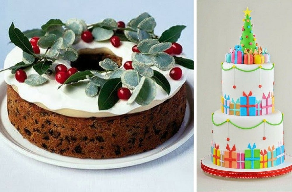 Christmas Cake Decorating