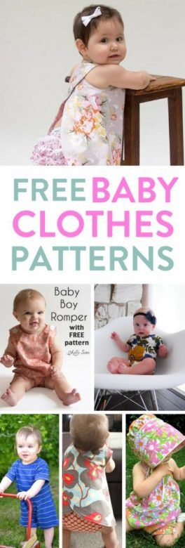 This list of free baby clothes patterns for newborns, both boys and girls are gorgoeus but simple to make. There's patterns for sewing, knitting, crochet and more. Take a peak and start making clothes for your baby now! #FreeBabyClothesPatterns