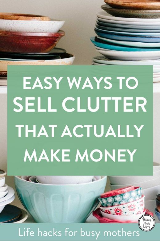 8 point plan for making money from decluttering for Easy things to sell for money