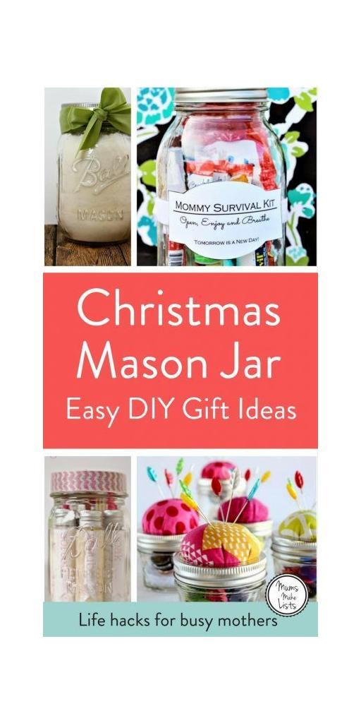 I love Mason Jars for storage and organisation, but they're also brilliant for creating DIY gifts and they come into their own at Christmas, as there are so many brilliant ideas on how to use them to craft unique gifts for friends and family. #MasonJar #MasonJarGifts #MasonJarChristmasGift #Christmas #ChristmasGifts #Christmas2017