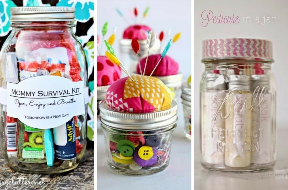 I love Mason Jars for storage and organisation, but they're also brilliant  for - 10+ Mason Jar Christmas Gift Ideas Mums Make Lists