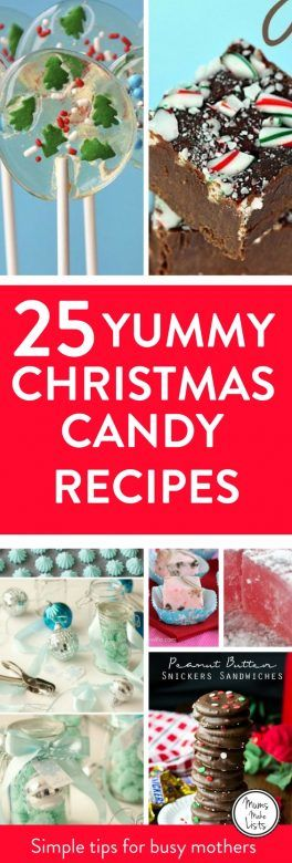 Christmas candy recipes easy to make mums make lists for Traditional christmas candy recipes