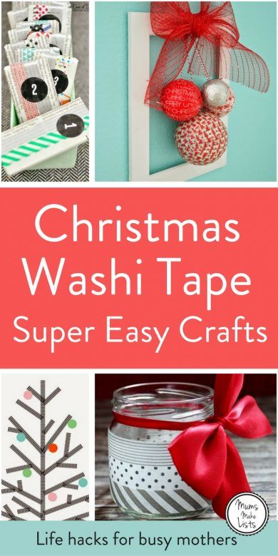We turn to our curation of Christmas Washi tape ideas time and again for inspiration to create everything from Christmas Washi tape cards to Washi tape wall trees. The craft ideas are all really easy, simple enough even for kids to make them on their own. My favourites are the washi tape Christmas tree decoration made from a cookie cutter and the door wreath. Take a look and see what you would like to make.