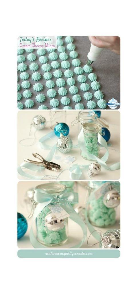 Christmas candy recipes, Christmas candy and chocolate you can make yourself - cream cheese mints