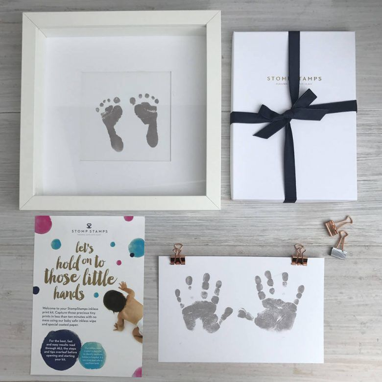 Magic inkless hand and foot print kit, gift from dad to first time mum, gift from husband to first time mum, unusual gift for first time mum