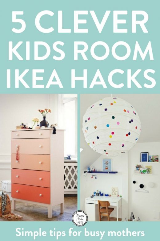 IKEA hackers kids - A roundup of super clever and easy to do ideas for IKEA hacks for furniture for nurseries, kids' bedrooms and playrooms, including a Regilit paper lantern polka dot wall decal hack, Billy bookcase hack and more; Thrift DIY at its finest. #WallDecal #nursery #nurserydecor #kidsroom #kidsroomdecor #ikeahack #ikea #thrift #DIY #DIYHomeDecor