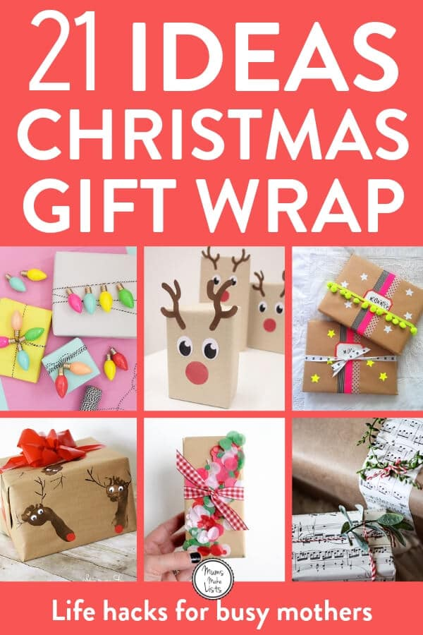 Get creative with these gorgeous ideas for Christmas gift wrapping. You may love to keep things simple with brown paper and string or you may like to get super creative with pom poms. There are some super lovely ideas in this roundup #Christmas #ChristmasGifts #ChristmasCrafts