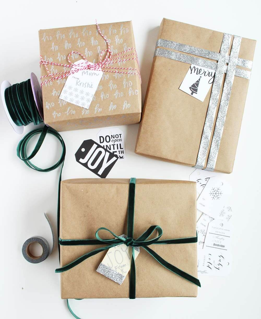 Gold Standard Brown Paper Gift Wrap Christmas