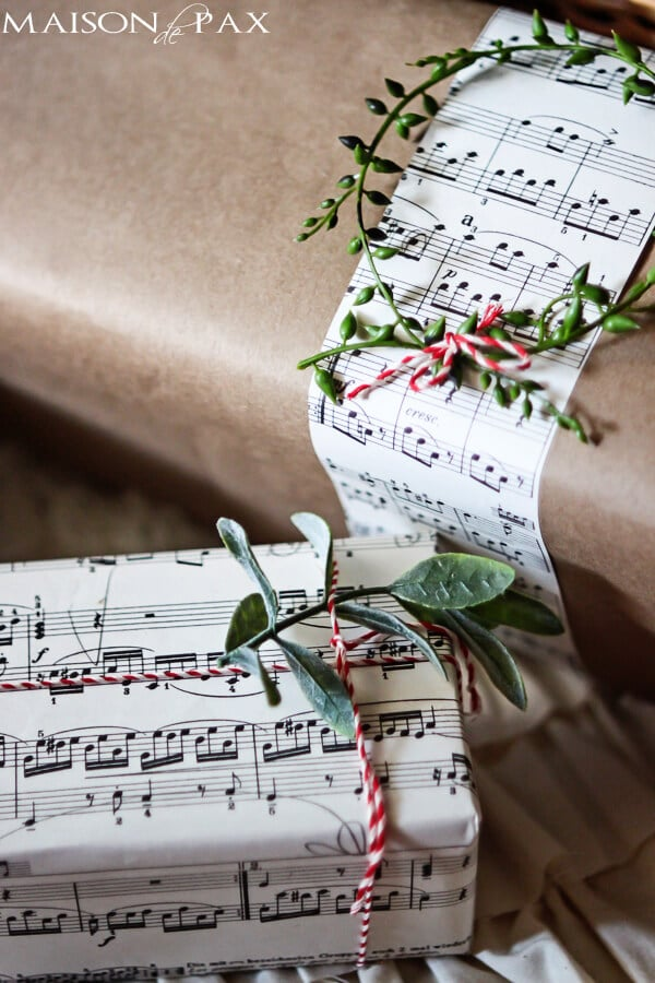 Maison De Pax sheet music gift wrap