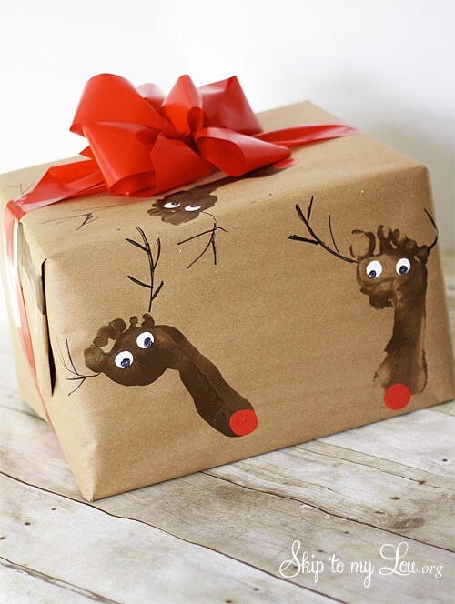 Skip To My Lou Brown Paper christmas gift wrap