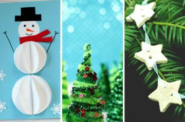 Christmas crafts for kids to make! Here are ten super easy Christmas crafts  for kids