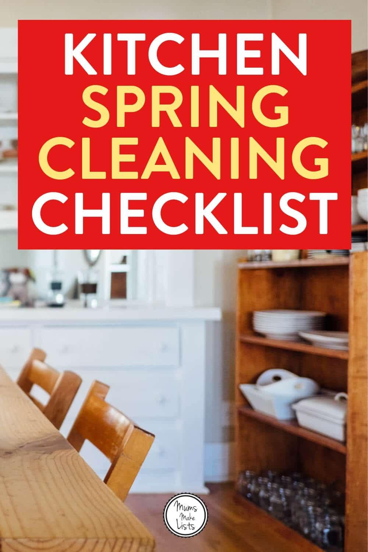 Kitchen spring cleaning, kitchen spring clean, kitchen spring cleaning checklist, spring cleaning, spring cleaning checklist