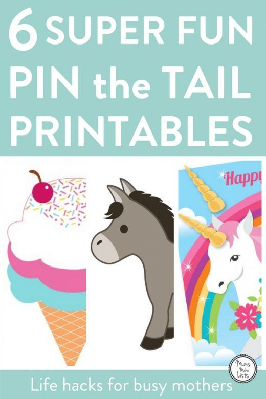 Free Printable Pin the Tail on the Bunny Game in 2020 ...