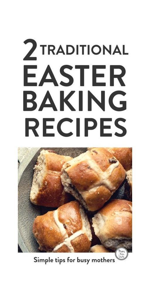 We've post two delicous Easter baking recipes, both are easy to make. There is a Hot Cross Buns recipe, which simple enough for kids to make and a Simnel cake recipe, which is a traditional Easter cake with dried fruit and marzipan. Bake these recipes and use them as Easter gifts or make Hot Cross Buns for brunch on Good Friday or Easter Sunday. #Easter #baking #cakes #EasterIdeas #EasterBaking #Cake #hotcrossbuns #recipe #recipeoftheweek