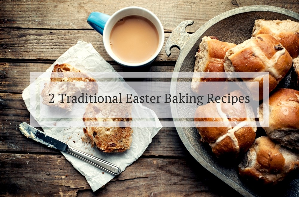 We've post two delicous Easter baking recipes, both are easy to make. There is a recipe for Hot Cross Buns, which simple enough for kids to make, the other is for Simnel cake, which is a traditional Easter cake with dried fruit and marzipan. Bake these recipes and use them as Easter gifts or make Hot Cross Buns for brunch on Good Friday or Easter Sunday. #Easter #baking #cakes #EasterIdeas #EasterBaking #Cake #hotcrossbuns #recipe #recipeoftheweek