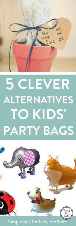 Alternatives to kids' party bags 1
