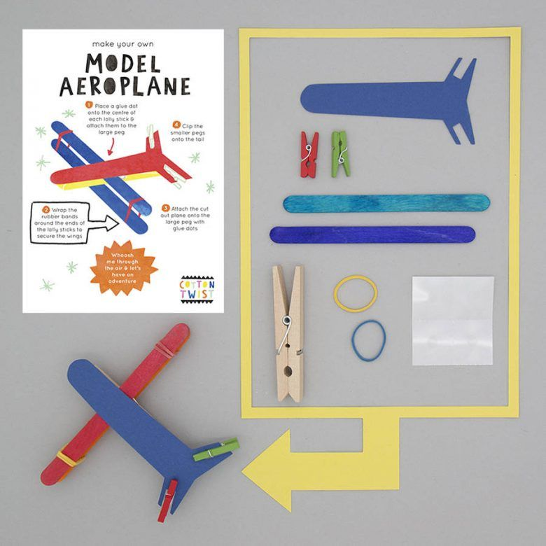 Alternative kids party favour bag idea, Make Your Own Airplane Kit