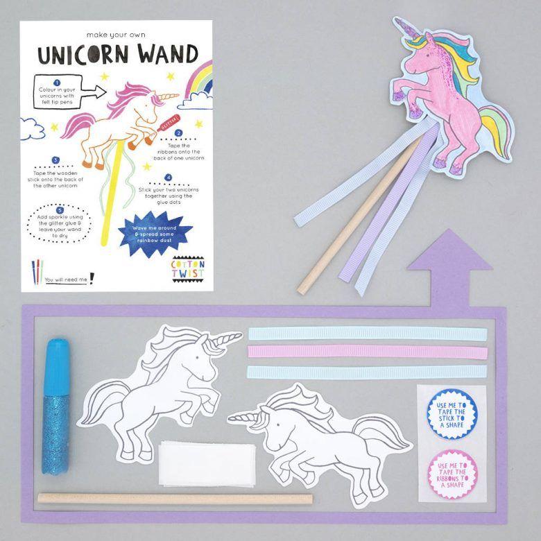 Alternative kids party favour bag idea, Make Your Own Unicorn Wand Kit
