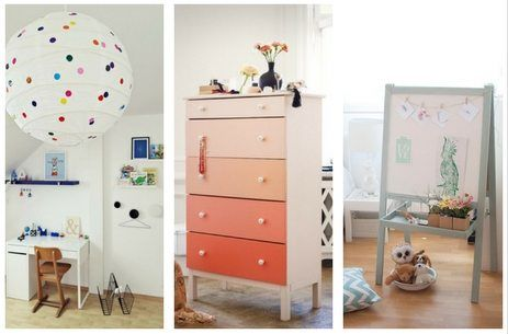 IKEA Regilit paper lantern polka dot hack, Billy bookcase IKEA hack, 5 Super clever IKEA Hacks for Kids Rooms