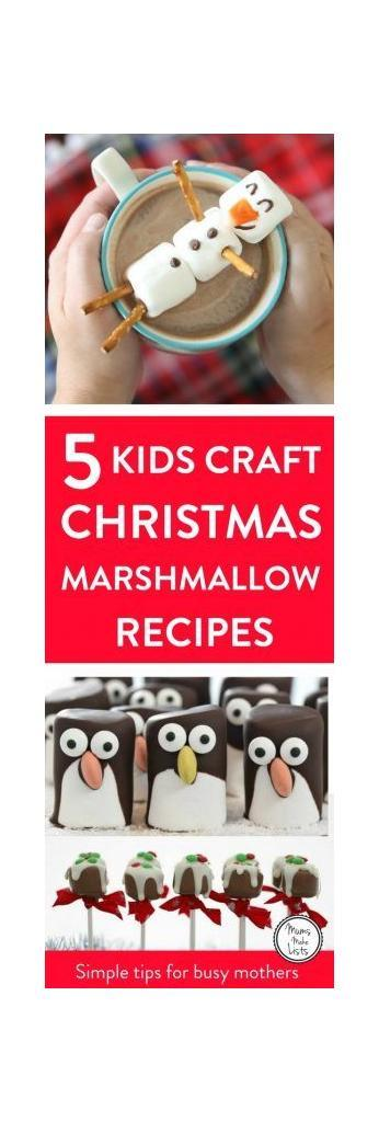 Easy Christmas marshmallow crafts for kids to make, either on their own or with help. These Christmas marshmallow recipes are a super easy way for kids to make their own treats, simple recipes that are easy on the brain bandwidth for stressed out mums trying to get everything ready for Christmas. They are the perfect recipe for keeping the kids happily occupied in the run up to Christmas day... and there may even be some left over to use as gifts... if they haven't all been eaten as they're made!! Click to Take a look at our curation. The criteria for the roundup is that each recipe is easy to follow and wherever possible is one that you can do with your kids or leave older kids to do by themselves. #ChristmasCraft