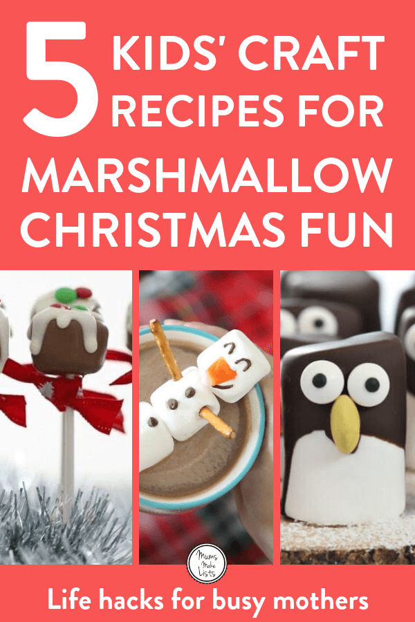 Keep the kids occupied and happy in the run up to Christmas and during Betwixtmas with these deliciously simple Christmas marshmallow craft recipes #KidsCraft #ChristmasCraft #Christmas #Candy