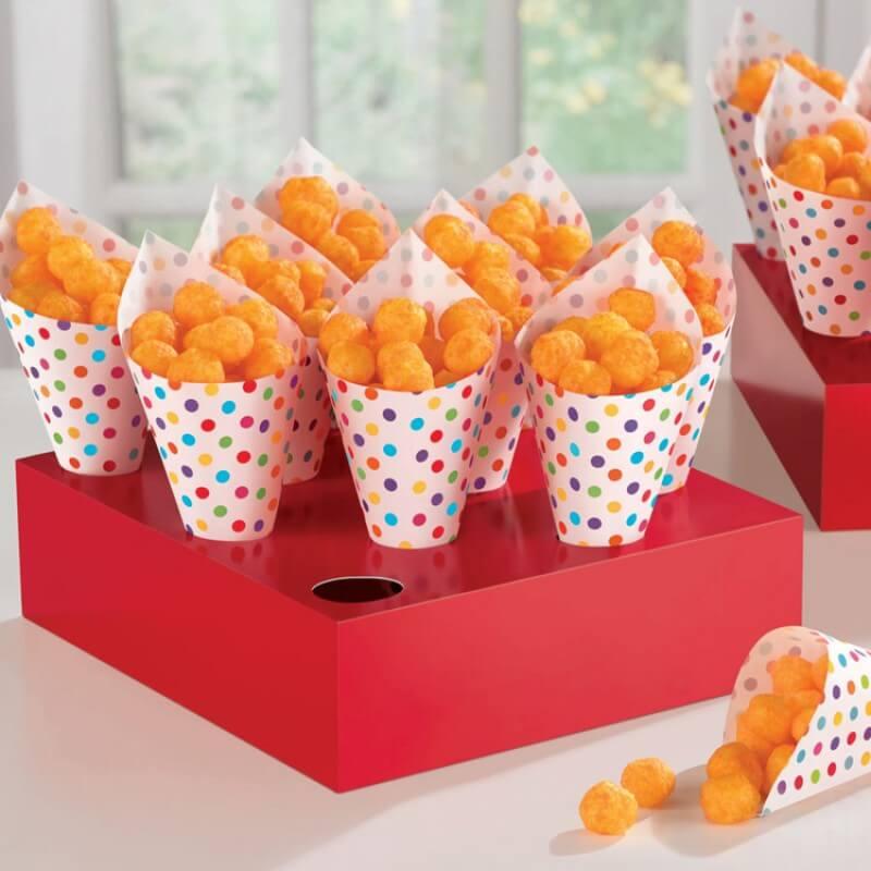 party pieces, paper party cones