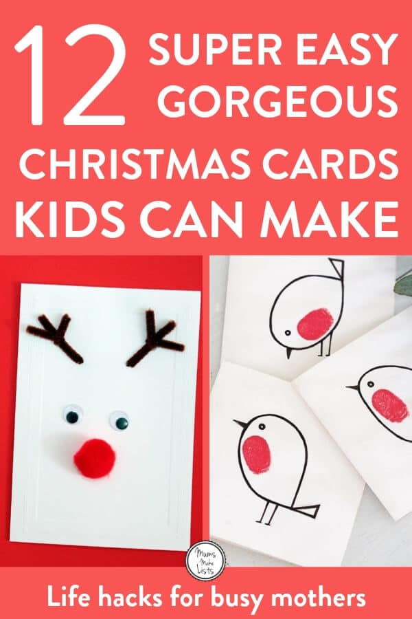 Ideas For Christmas Cards Handmade.12 Easy Homemade Christmas Card Ideas For Kids Mums Make Lists