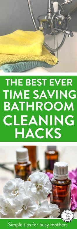 Time Saving Hacks for Bathroom Cleaning, Six tips and trick for cleaning your bathroom fast! Covering the bath tub, toilet, shower, faucets / taps, basins and more, with details of easy cleaning routines and hacks for making cleaning easier, all with a focus on using natural, green cleaning products that are environmentally friendly #Cleaning #CleaningTips #CleaningHacks #CleaningTricks #GreenCleaning #housework #houseworktips #householdhacks
