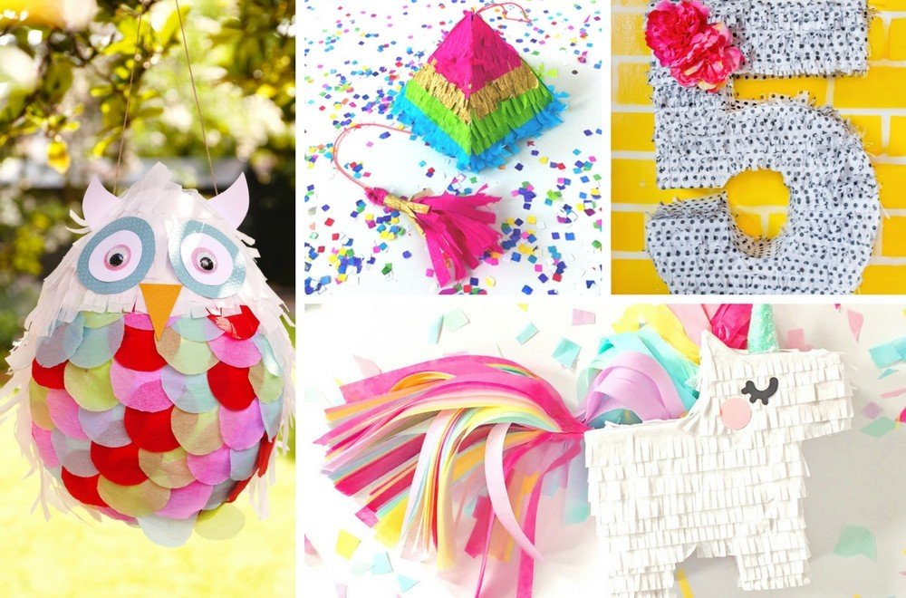DIY Piñata tutorials - 5 brilliant tutorials on how to make a homemade piñata.These ideas are all perfect for kids birthday party piñatas. #pinata #KidsParty #KidsPartyideas #childrensparty #childrenspartyideas