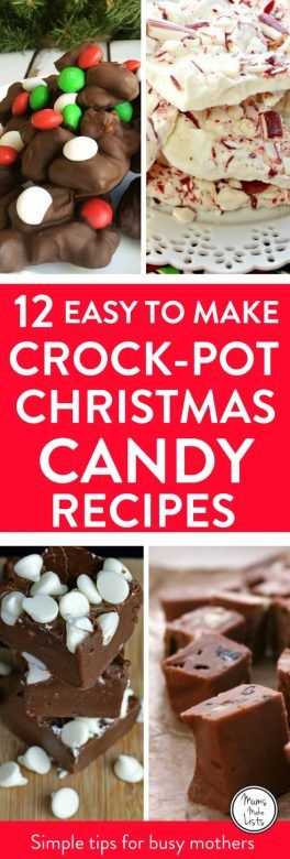 Best Christmas Candy Recipes.Easy Christmas Crock Pot Candy Recipes Mums Make Lists