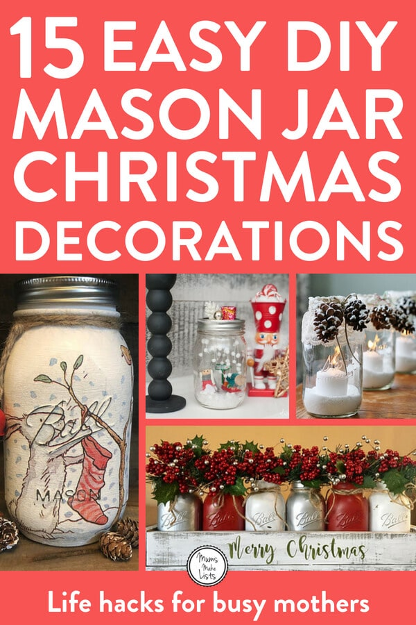 Mason Jar Christmas Decorations Mums Make Lists