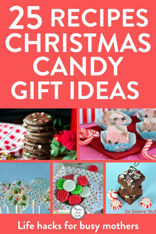 Homemade Christmas candy recipes and ideas for making candy gifts to give during Christmas and the holiday season - we put together a list of our favourite 25 recipes. #ChristmasCandy #Christmas #Christmasgifts #Christmas2017 #Christmas #ChristmasChocolate #Christmas2018