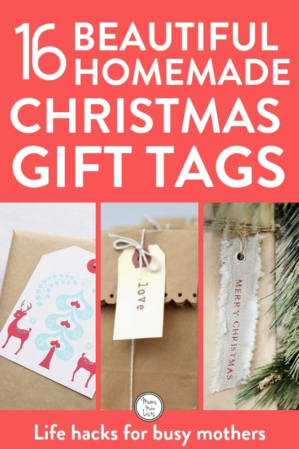 I've definitely found a delightful collection of 16 DIY gift tags you can use this Holiday season. It's the time of year when you get so busy decorating it's the little things like this you might forget until the last minute, so save this pin and remember to make your gift tags! #Christmas #Christmasgifts #ChristmasCrafts