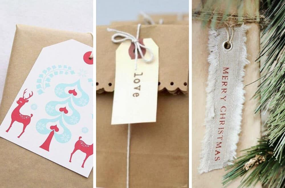 Homemade DIY Christmas gift tags