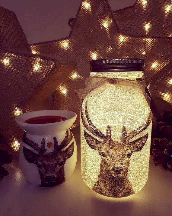 DIY Mason Jar Christmas Decorations #MasonJarDecor #MasonJar #MasonJarCrafts #ChristmasDecor #ChristmasDecorations #ChristmasDecorDIY #Christmas2018 #Christmas #Craft #Etsy #EtsyChristmas