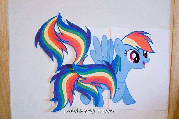 Pin the tail on the My Little Pony