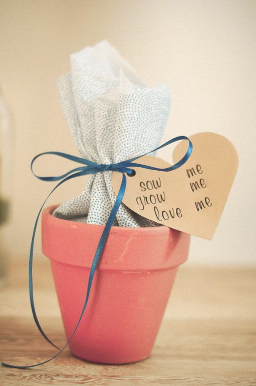 Neat plant pot kids' party gift instead of a typical party favour bag