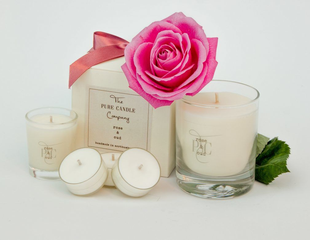 Rose & Oud Candle The Pure Candle Company, soy wax candle gift, gift idea for mum, special gifts for mum