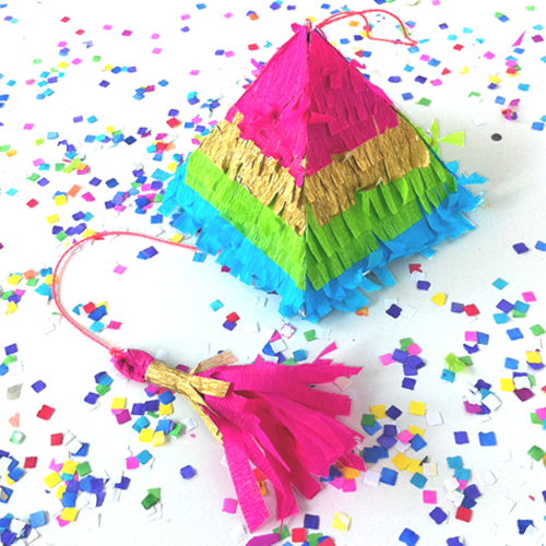 mini rainbow pinata