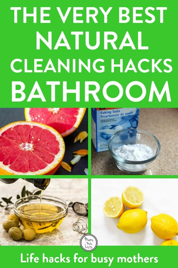 Green cleaning bathroom tips using baking soda, white wine vinegar, lemon, grapefruit and black tea in place of bought cleaning products to clean your bathroom. All of the tips are straight-forward, easy to do, no complicated recipes or methods #Cleaning #CleaningTips #CleaningTricks #CleaningHacks #HouseholdHacks #Greenclean #Greencleaning #Greencleaners #Cleaningtips #CleaningHacks #Cleaning #housework #houseworktips #vinegar #bakingsoda #bakingsodadoesthat