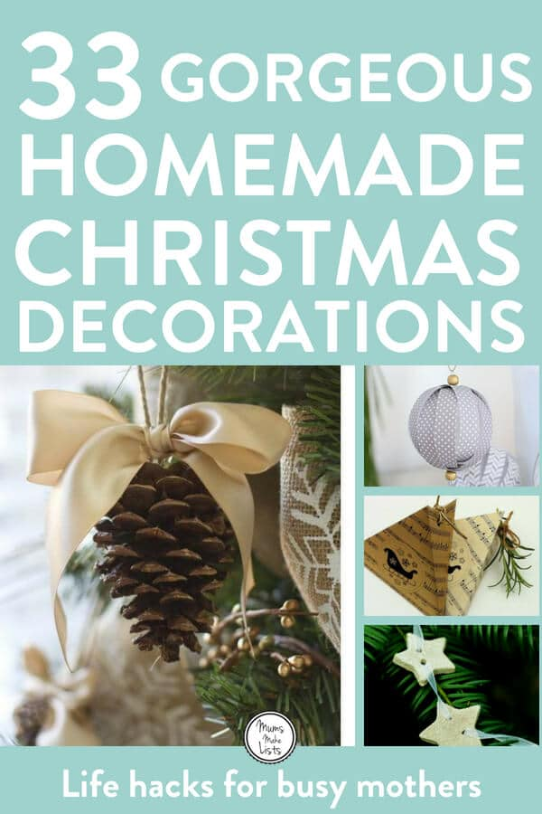 DIY homemade Christmas decorations for the home this festive season. Easy and cheap ideas for