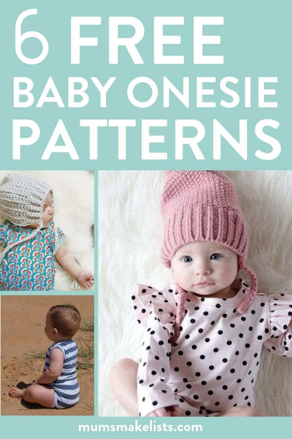 Free sewing pattern, free baby onesie pattern, free baby clothes patterns