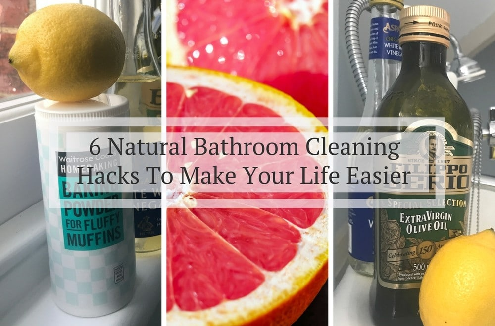 green cleaning bathroom tips using baking soda white wine vinegar lemon grapefruit and - Bathroom Cleaning Hacks