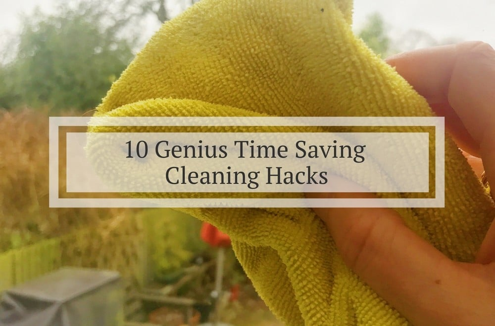 10 cleaning hacks to save you time, these ten time saving cleaning tips and tricks for the kitchen, bathroom and other areas of your home with change your life and give you back hours of time. Several of the tips use white wine vinegar as a great natural way to clean your home and descale kettles and shower heads. Microfibre cloths also feature. #Cleaning #CleaningTips #CleaningTricks #CleaningHacks #HouseholdHacks #Greenclean #Greencleaning #Greencleaners #Cleaningtips #CleaningHacks #Cleaning #housework #houseworktips #vinegar
