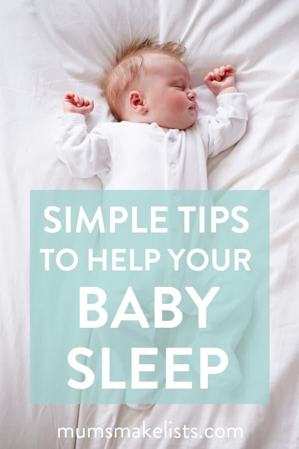 baby sleep, tips to help baby sleep, baby tips, new mum